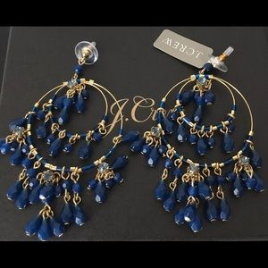 NWT J.Crew Authentic Tiered beaded drop earrings
